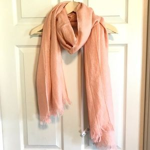 Pink and gold lightweight scarf